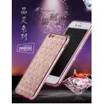 เคสขอบเพชรลายตาราง ซัมซุง เจ 7(ขอใช้รูปภาพไอโฟน 6 แทน)-rose gold
