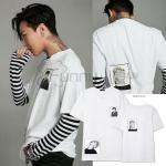 เสื้อแฟชั่นนักร้องเกาหลี เสื้อยืด Bigbang GD : สีขาว XXL