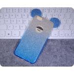 เคสหูมิ๊กกี้เม้าส์กากเพชร 2 ชั้น ไอโฟน 4/4s(ใช้ภาพไอโฟน 6 แทน)-ฟ้า