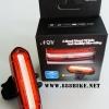ไฟท้าย NQY AOY-096 ไฟมีสามสีแดง-ฟ้า-ชมพู ,ชาร์จ USB