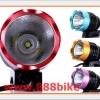 ไฟหน้าจักรยาน LED CREE XM-LT60 1,200 ลูเมน 3 โหมด (HI/LOW/กระพริบ)