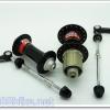 ดุมหมอบ Novatech 32 รู ซีลแบริ่ง หน้า/หลัง v-brake โม่อลูฯ สีดำ F162SB-A141SB
