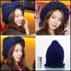 หมวกไหมพรม สีน้ำเงิน แบบ Park Shin Hye