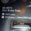 แผ่นยางเบรคดิส XTR รุ่น BR-M975 ( ไททาเนียม ) Metal.