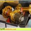 ดุมดิส หน้า/หลัง NOVATEC SuperLight FHD711/RHD712, 6 รู, 32H,สีแดง,สีทองและสีขาว