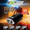 ไฟหน้าจักรยาน EXTBIKE PICO ชาร์จ USB กันน้ำ