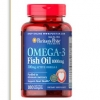 Puritan's Pride Omega-3 Fish Oil 1000mg 100 Softgels