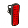 KNOG ไฟท้ายไบเดอร์ม๊อบวีคิตกริ๊ด BLINDER MOB V KID GRID, แบบยาว 16 จุด, ขอบดำ/เลนซ์แดง