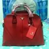 """กระเป๋าถือพร้อมสายสะพาย,สีแดง,ขนาด12"""""""