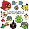 สติ๊กเกอร์ติดผนังห้องเด็กลาย Angry Bird/Sticker -- Angry Bird