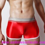 Super Body Men Underwear  Low Waist Boxer Shorts (Red)