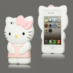 I Phone 4,4S Hello Kitty Silicone : Pink