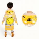 เสื้อกันฝนลายเสือพร้อมซอง (สีเหลือง)