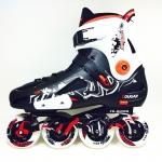 รองเท้าสเก็ต rollerblade แบบสลาลม รุ่น MLB สีดำ-ขาว Fixed Size 42 และ 44