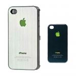 I Phone 4,4S Luxury Brushed Electroplating : White