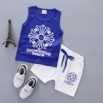 เสื้อ+กางเกง สีน้ำเงิน แพ็ค 4ชุด ไซส์ S-M-L-XL (เหมาะสำหรับ 6ด.-4ปี)
