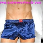 AussieBum  Men Underwear Booster Jock Boxer Shorts (Dark Blue)