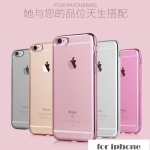 เคส iPhone 6s / iPhone 6 (4.7 นิ้ว) ซิลิโคน TPU ขอบสีพาสเทลด้านหลังโปร่งใสสวยๆ ราคาถูก