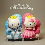 ตุ๊กตาโมเดลคิตตี้ Princess Royal of Hello kitty & Dare Deniel (40 Anniversary ) 7-11 Hong Kong
