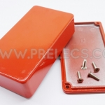 กล่องอลูมิเนียม 1590B สีแดง