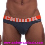 Croota Men Underwear Inner Sport Bikini Brief (Deep Blue)