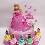 aurora princess cake