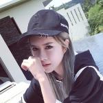 หมวกแฟชั่นเกาหลี หมวกเบสบอล พร้อมห่วงติดปีกหมวก สีดำ