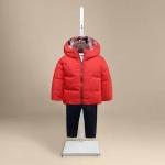 เสื้อกันหนาวสีแดงหมวกกลม ลายสก๊อตด้านใน [size: 5Y-6Y-7Y]