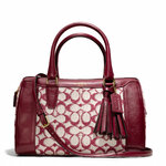 Pre-order Coach LEGACY HALEY SATCHEL WITH STRAP IN NEEDLEPOINT SIGNATURE FABRIC STYLE NO. 25378