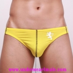 GMW Men Underwear Stylish Charming Perfect Cool Bikini Brief (Yellow)