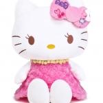 Hello Kitty pinky dress ตุ๊กตาเฮลโหลคิตตี้ ชุดเดรสขนกุหลาบสีชมพูแสนหวานสุดนุ่ม 18 นิ้ว