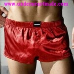 AussieBum  Men Underwear Booster Jock Boxer Shorts (Red)