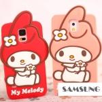 เคสซัมซุง S5 Case Samsung Galaxy S5 ซิลิโคน มายเมโลดี้น้อยติดโบว์ดอกไม้น่ารักๆ