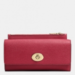 Preorder COACH SLIM ENVELOPE WALLET WITH POP-UP POUCH IN EMBOSSED TEXTURED LEATHER Style No: 52345