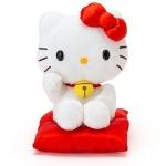 Sanrio Hello kitty Maneki Neko lucky plush doll ตุ๊กตาเฮลโหลคิตตี้แมวกวักนำโชค