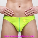 GMW Men Underwear Stylish Charming Perfect Cool Bikini Brief (Green)