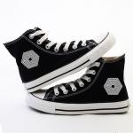 รองเท้าผ้าใบ EXO LOGO 2014 (สีดำ)