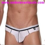 Andrew Christian Men Underwear Holiday V Slim Brief (White)