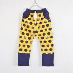 กางเกงขายาว ลายแมวสีเหลือง [size: 2Y-3Y-4Y-5Y]
