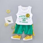 เสื้อ+กางเกง สีเขียว แพ็ค 4ชุด ไซส์ 6-8-10-12 (เหมาะสำหรับ 6ด.-4ปี)