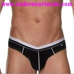 Andrew Christian Men Underwear Holiday V Slim Brief (Black)