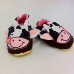 รองเท้าหัดเดินเด็กเล็กลายวัว