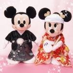 เซ็ตคู่แต่งงาน มิกกี้ มินนี้ ชุดกิโมโน Mickey Mouse & Minnie Mouse kimono Stuffed inbox package ของแท้จากญี่ปุ่นใหม่มือ 1