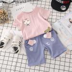 เสื้อ+กางเกง สีชมพู แพ็ค 5 ชุด ไซส์ 7-9-11-13-15