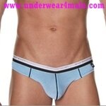 Andrew Christian Men Underwear Holiday V Slim Brief (Blue)