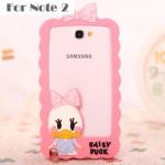 เคส Note 2 Samsung Galaxy Note 2 ซิลิโคน Bumper โดนัลด์ เดซี่ เคสมือถือ ขายส่ง ราคาถูก