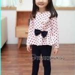 ชุดสูท เสื้อ-กางเกง สีชมพู แพค5ชุด ไซส์100-140
