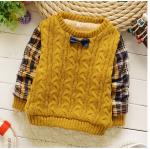 เสื้อ(มีขนด้านใน) สีเหลือง แพ็ค 4ชุด ไซส์ 6-8-10-12