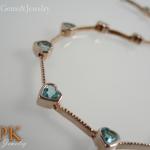 กำไลบลูโทปาซ (Bracelet blue topaz)
