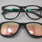 แว่นตากรองแสงคอมพิวเตอร์+คลิปออนแม่เหล็กเลนส์กันแดด 01